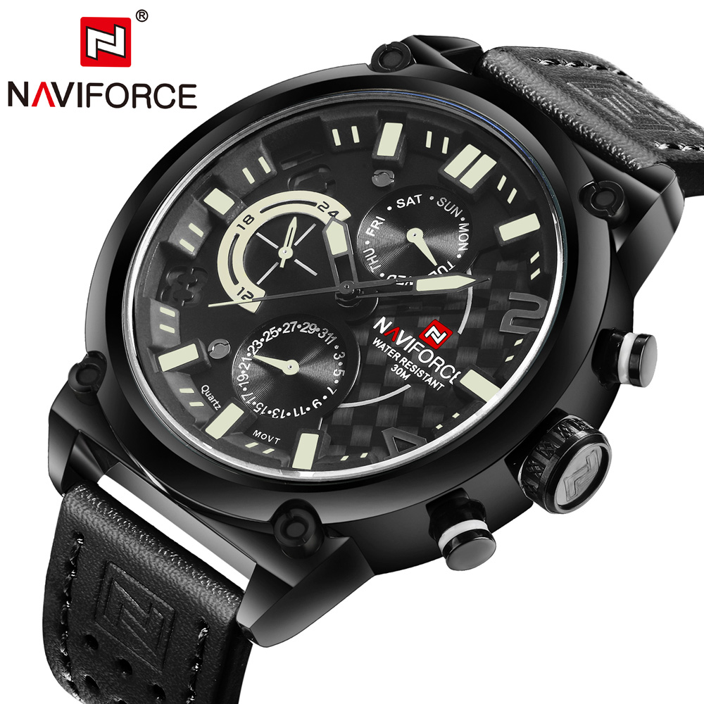 NAVIFORCE Brand Watches Men Quartz Sports Watches 3ATM Waterproof Fashion Casual Military Wristwatch Male Relogio Masculino 2016