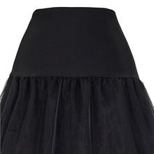 Tulle Skirts Women Pleated Long Skirt Faldas Black Bridal Wedding Petticoat Midi 2018 Tutu Skirt Saia Longa Vintage Maxi Skirts