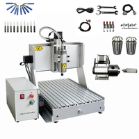 800W 1.5KW 2.2KW USB 4 Axis CNC Router Engraver 3040 Metal Milling Cutting Machine