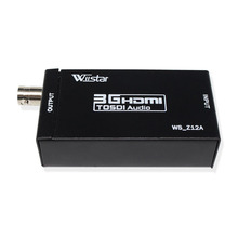 1pcs Mini 3G HDMI to SDI Converter  with Spdif port ,headphone port  . HDMI to SDI HD-SDI 3G-SDI Adapter 4 port sdi splitter amplifier sdi hd sdi 3g sdi 1x4 splitter distributor 1080p with power adapter for tvs cameras