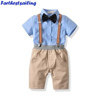 Baby Boy Clothing Set Toddler Summer Suit Shorts Shirt Pants 1 6 Years Children Kid Clothes Suits Formal Wedding Party Costume