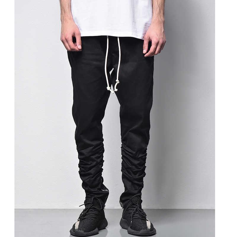 7555facb9cfe Hi-street Pants Men Fashion Hip hop Trousers Streetwear Fashion Olive Black  jeans Punk Cool