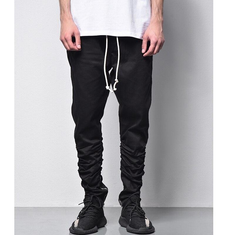 Hi-street Pants Men Fashion Hip hop Trousers Streetwear Fashion <font><b>Olive</b></font> Black <font><b>jeans</b></font> Punk Cool Skinny Jogers ankle zipper Sweatpant