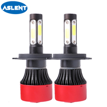 Aslent 2Pcs LED Car Headlight Bulbs H4 H7 H11 H8 9005 9006 9012 H13 9004 5202 COB 100W 12000Lm 6500K Automobiles Fog Light 12V