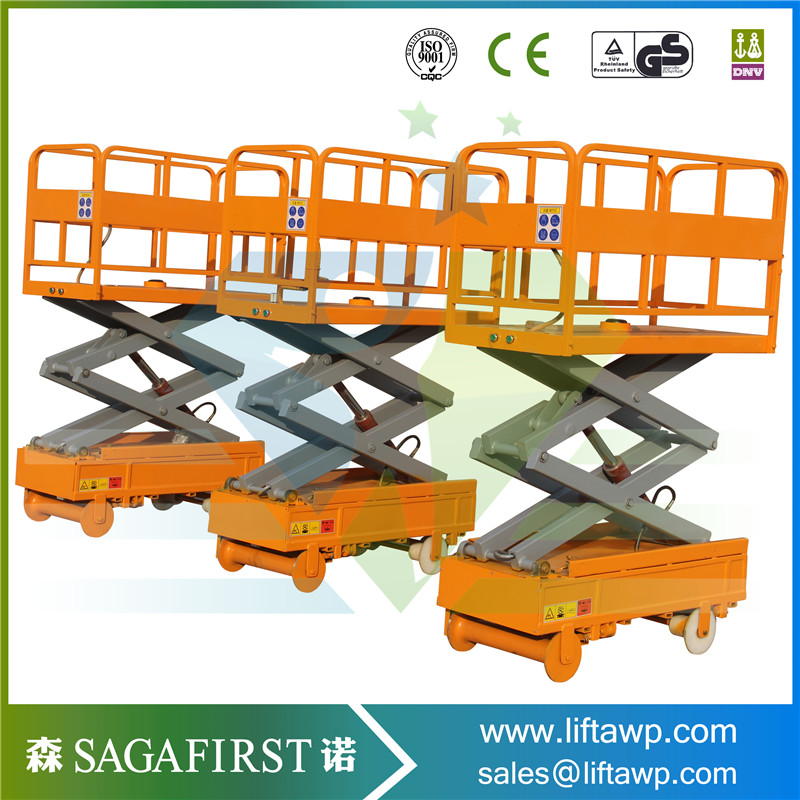 Electric Lifting Mini Self Propelled Platform Scissor Lifter In Stock
