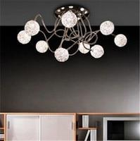 Современная Краткая Арт Деко Celing лампы DIY g4 * 7 голов алюминиевые гибкие шар круглый потолочный светильник спальня гостиная лампы 1480