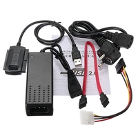 Brand New EU Standard USB 2 0 To SATA IDE Data Cable Power Converter Cable For
