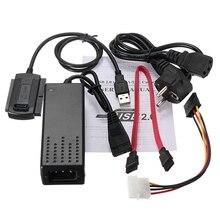 Фирменная Новинка ЕС Стандартный USB 2.0 на sata ide кабель для передачи данных Мощность конвертер кабель для HDD жестких дисков CD DVD