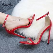 Silentsea Women Newest Sandals 11cm High Heels Shoes High Qu
