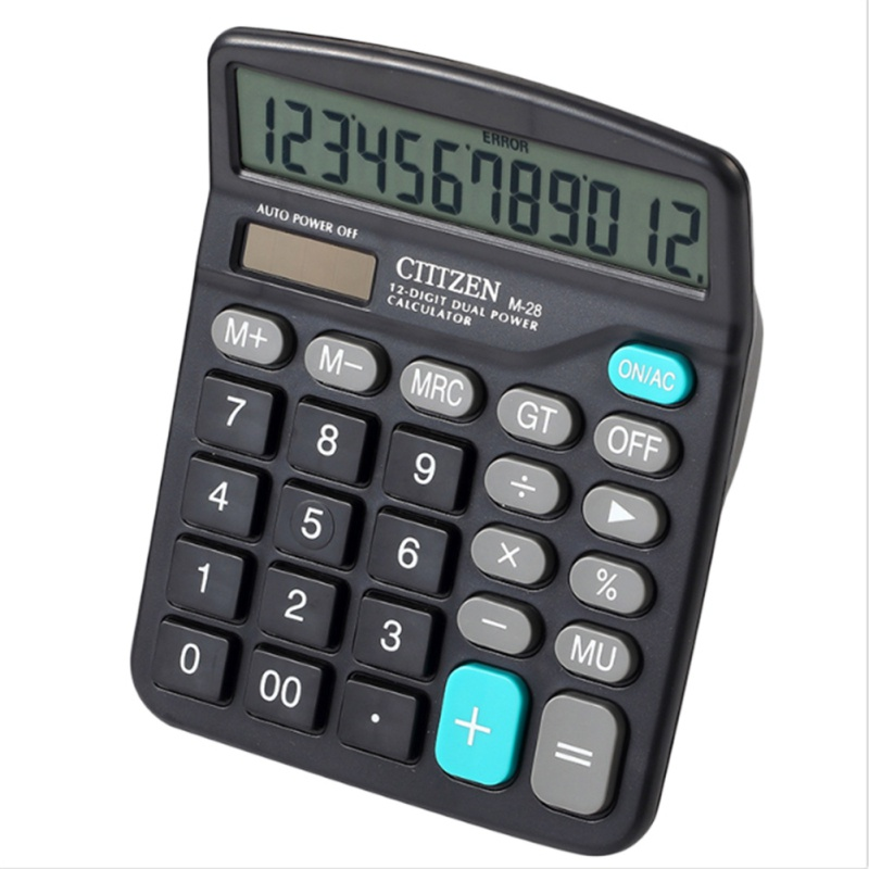 12 Digit Large Screen Count Calculators Solar Electronic Calculator Fashion Computer Financial Accounting tools