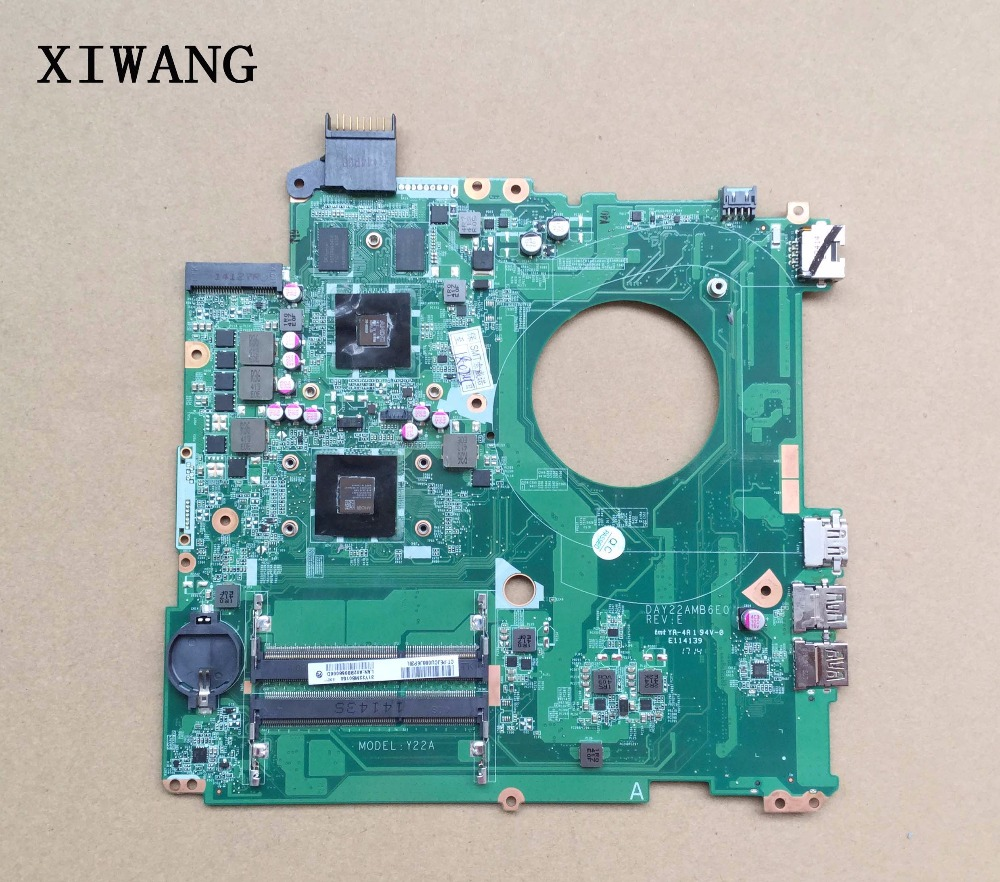 Free Shipping 762531-001 762531-501 FOR HP Pavilion 15-p SERIES Laptop Motherboard DAY22AMB6E0 REV:E A8-6410 2G 100% Working