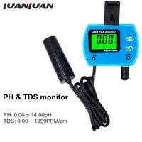 5pcs/lot 2 in 1 PH Meter TDS Tester Water Quality Monitor Online PH/TDS Meter Water Quality Tester for Aquarium