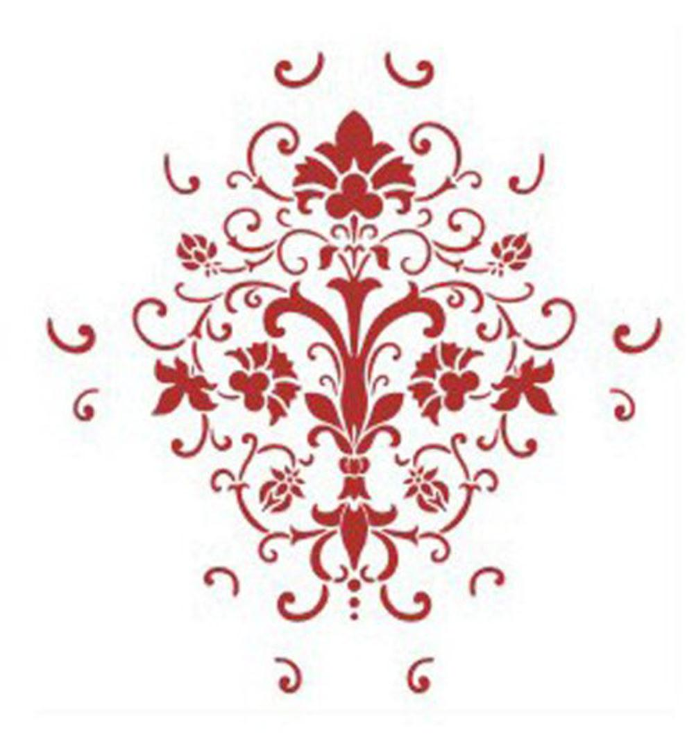 Wall Painting Grain Stencil Pattern-in Painting & Calligraphy from ...
