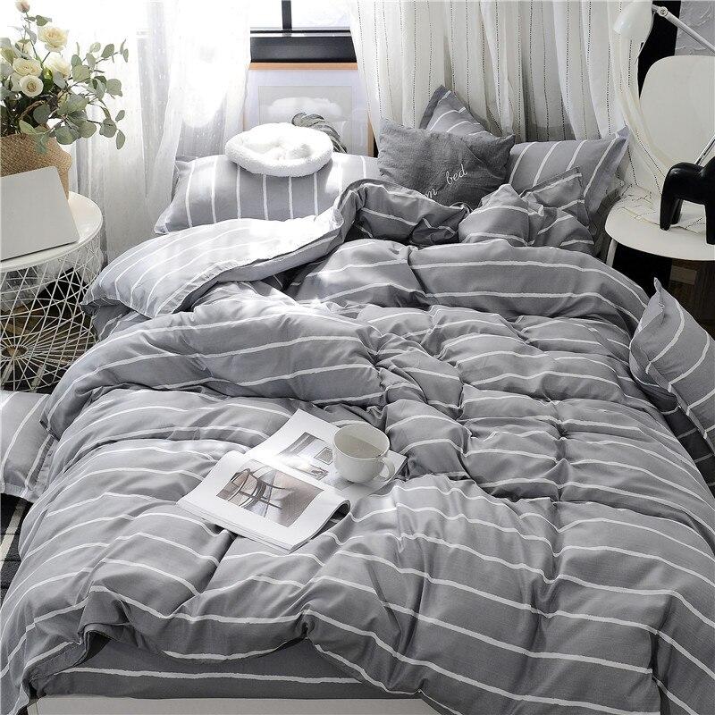 Image 2 - Planet Printing Bedding Set Skin friendly Pillowcase Flat Sheet Duvet Cover Set AB Side Kids Bedding 3/4pcs-in Bedding Sets from Home & Garden