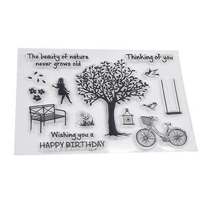 Clear Stamps Scrapbook Cards-Making Embossing-Album-Decor Flower Transparent Silicone
