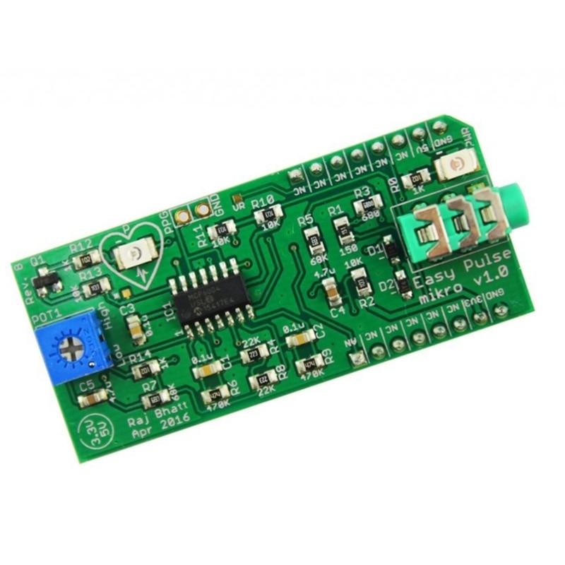 Elecrow Easy Pulse Mikro Pulse Sensor For Arduino DIY Kit With Transmittance PPG Pulse Sensor Free Shipping