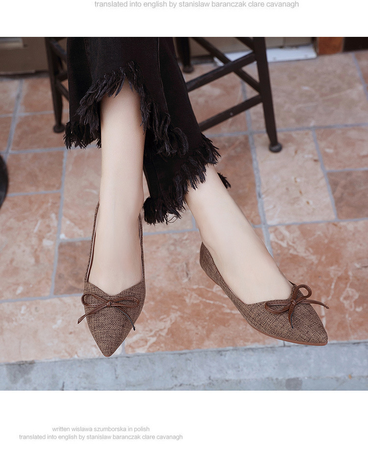 Women Ballerinas Flats Fashion Bowtie Shallow Mouth Slip-on Women Flats Concise Ladies Casual Flat Shoes Ballet Flats For Women (2)