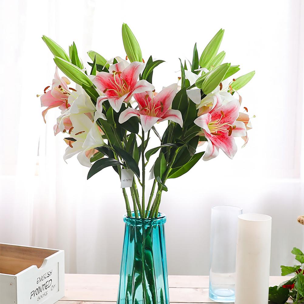 1Pc Cloth Artificial Flower Simulation Lily Wedding Home Hotel Cafe Party Decoration Artificial Flower Hot