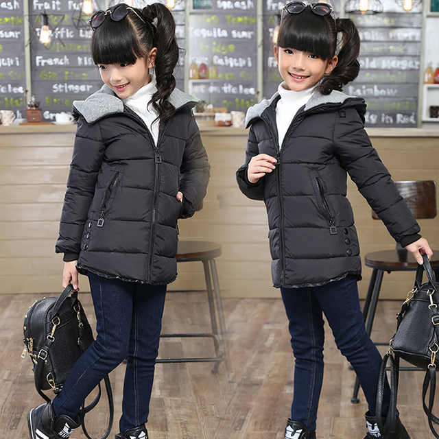 ca582dc1e 2018 Otoño e Invierno nuevos niños ropa de algodón acolchado chaqueta niñas  Casual largo Wadded abrigo