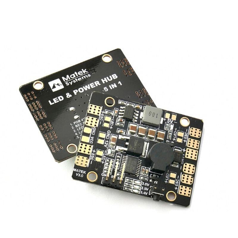 Hot Sale Matek LED & POWER HUB 5in1 V3 Power Supply Board + BEC 5V 12v + Low Vol