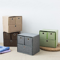 YFGXBHMXTwo Three Underwear Storage Box Drawer Type Compartment Storage Box Bra Panties Socks Home Cloth Finishing Box Organizer