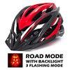 BlackRed Helmet LED