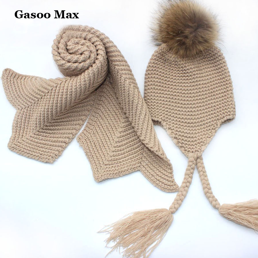 knitted scarf and hat set luxury winter warm crochet