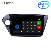 Harfey Android 8.1 for 2011 2015 Kia K2 RIO Head unit Radio Removal with 9 Multi touch Capacitive Screen GPS DVD Player 3G wifi