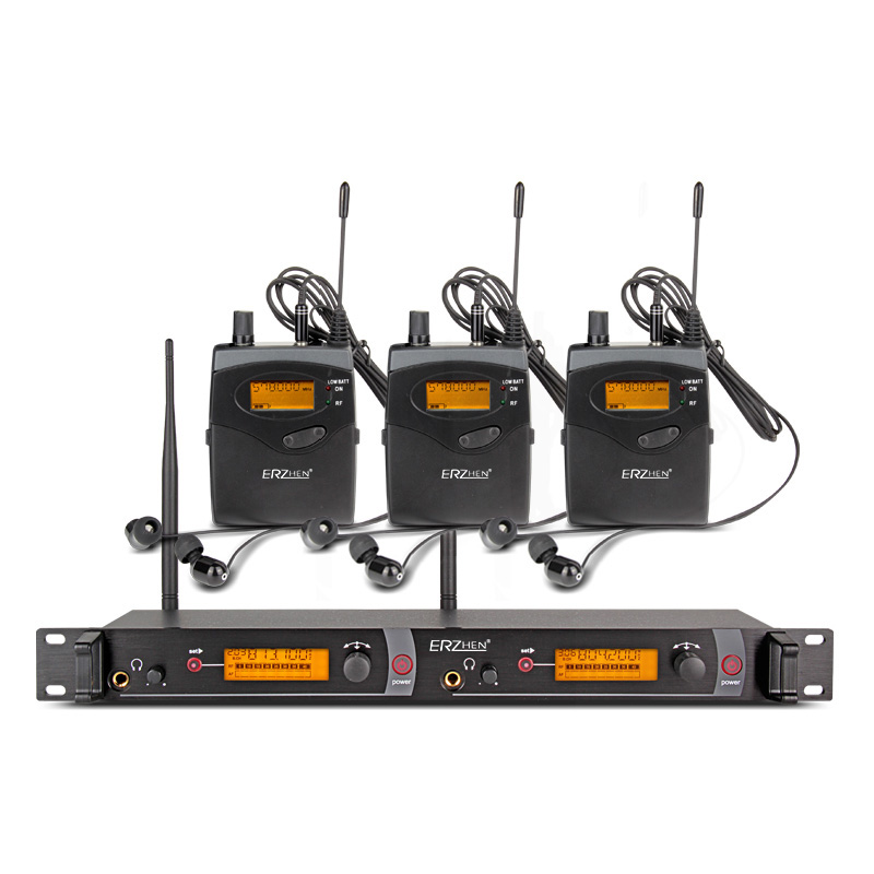 EM2050 in Ear wireless system with 3 receiver and 1 transmitter studio sound monitor