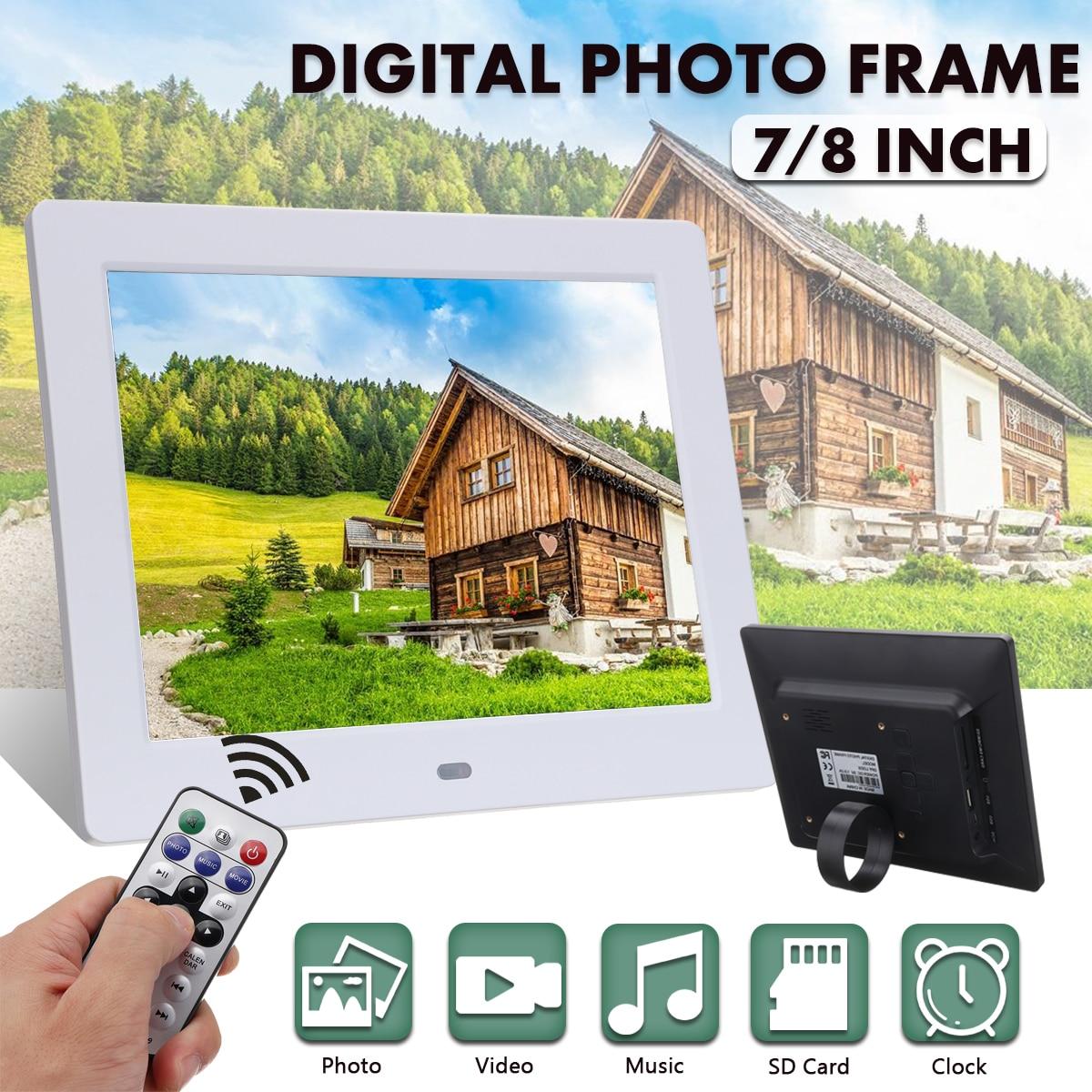 Cadre Photo électronique LCD décoration avec réveil MP3 MP4 lecteur de film réveils Photos cadres Photo numérique
