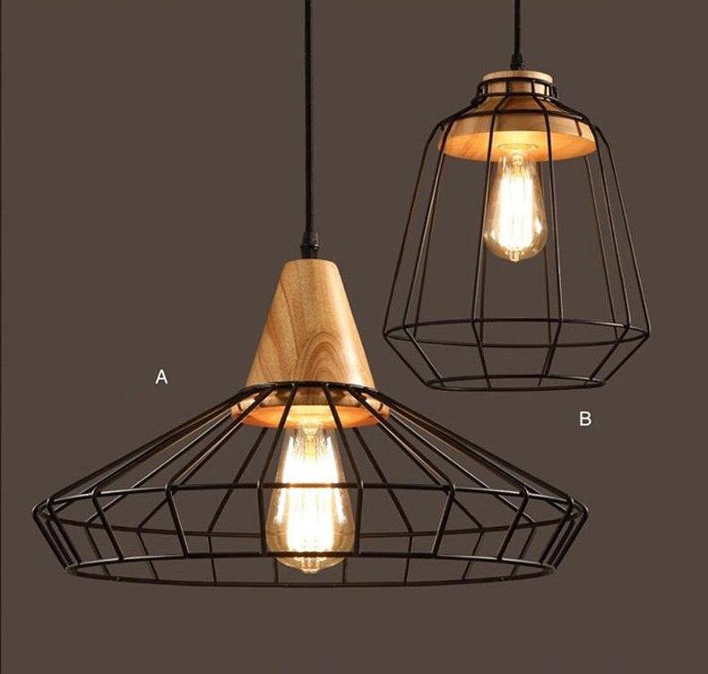 loft industrial vintage pendant lights bar kitchen home decoration e27 edison light fixtures iron pulley lamp
