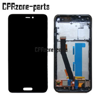 for Xiaomi Mi 6 Mi6 LCD Display Touch screen + 10 Points Touch + Fingerprint Sensor assembly with Frame by Free Shipping