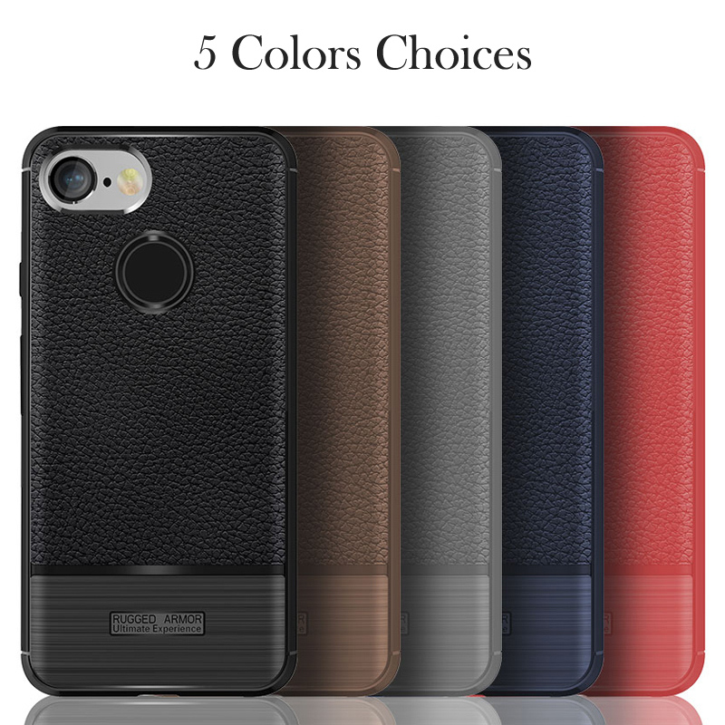 Cases For HTC Google Pixel 3 Case For HTC Pixel3 Soft Back Covers Luxury Litchi Patterned Leather Brushed Bags Shell