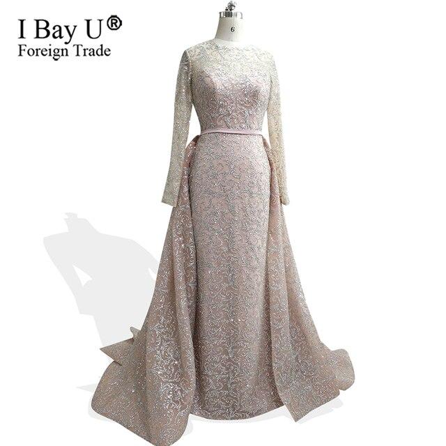 3c26d7ecdb5f4 Real Photos Arabic Girl Dresses Glitter Mermaid Evening Dresses 2019 Lace  Long Evening Gown Gatsby Dress