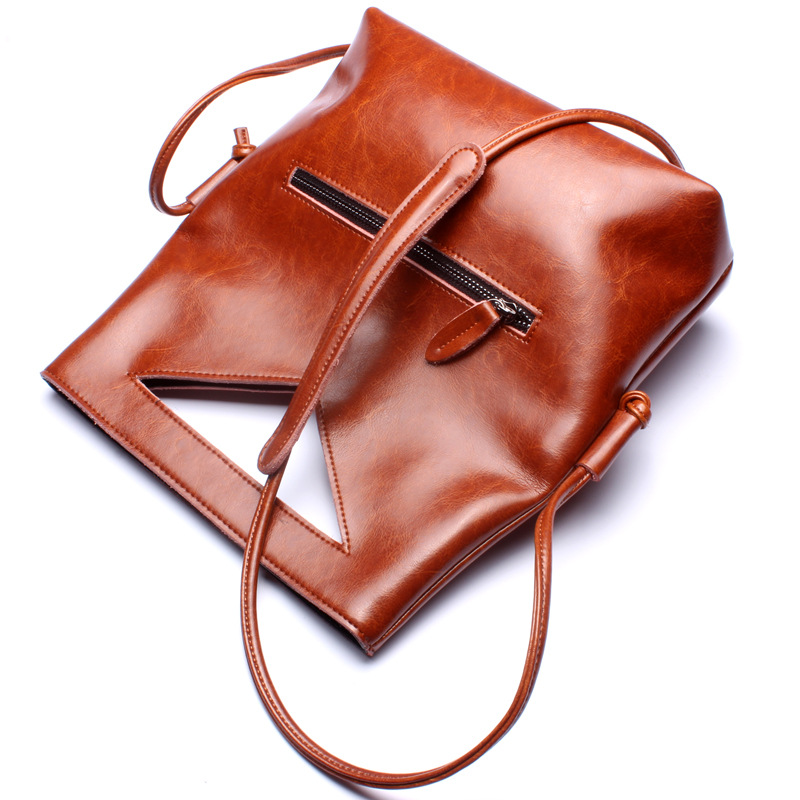 Luxury High Quality Women Bags Fashion New Design European Genuine Cowhide Leather Solid Color Totes Crossbody