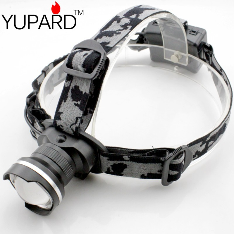 YUPARD XML T6 Mod LED 3 Mod Rezistent la apa Zoom Focalizare Față Lumină frontală Lampă de avertizare Reglați focalizarea 3 * AA bateria camping sport în aer liber