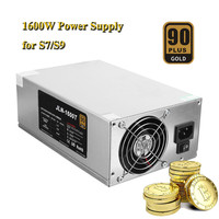 PC Eth BTC MINE Power Supply 1600w 90Plus 6PIN 12V 133A Miner Power Supply Fan Set
