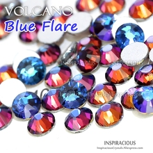 Volcano Blue flare SS3-SS30 all sizes 2018 new color 3D Nail Art Rhinestones for DIY manicure design Non HotFix crystal glitters