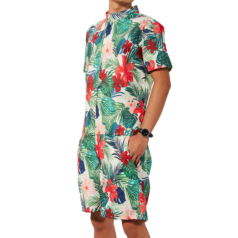 c6d7cc8a93b Alisister Floral Print Rompers Men s Short Sleeve 3d Jumpsuit Playsuit  Harem Cargo Overalls Summer Hip Hop One Piece Dropship-in Men s Sets from  Men s ...