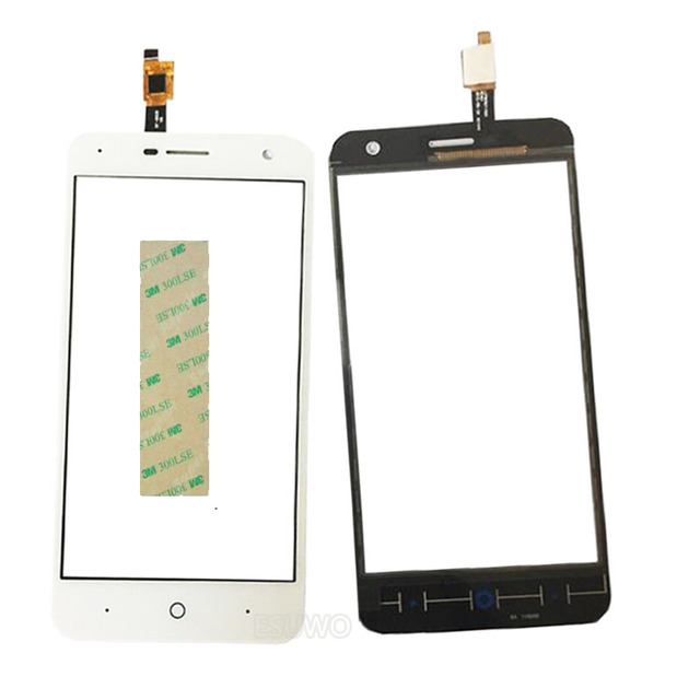 Touchscreen Sensor For ZTE Blade A465 Touch Screen Digitizer Front Glass Lens Panel +3M Sticker Free shipping