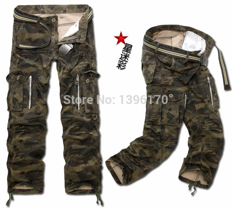 MIXCUBIC brand army tactical pants Multi-pocket washing 100% cotton army green camouflage cargo pants men plus large size 28-40 23