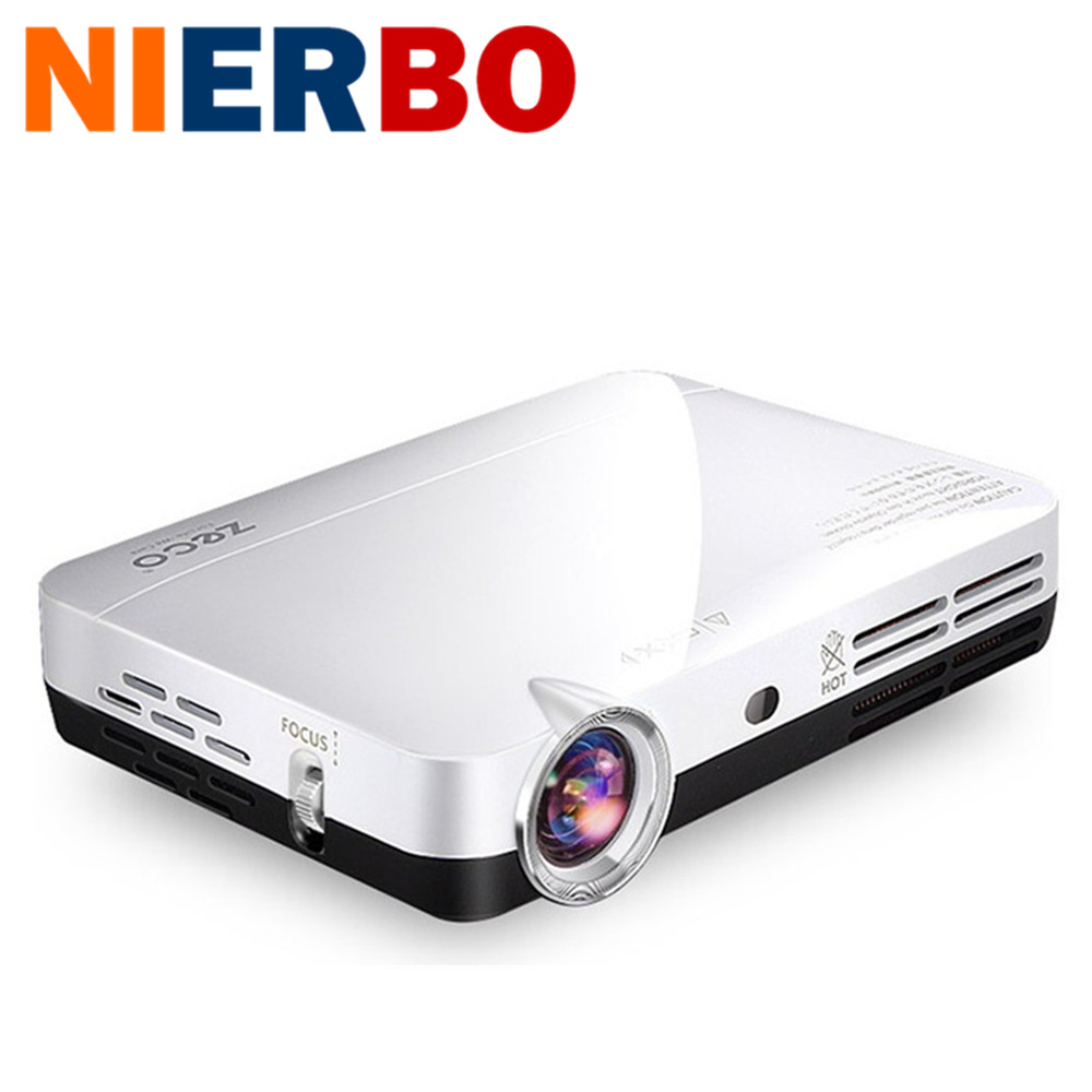 NIERBO 3D LED Projector Full HD 1080P font b Android b font Portable Mini Video Projectors