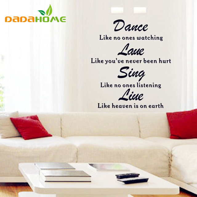 quoted price english 3d wall stickers home decoration black