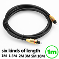 KELUSHI Toslink cable 1M Od6.0 Black Digital optical audio cable FOR Blu-ray player CD DVD TV optical cable fast shipping