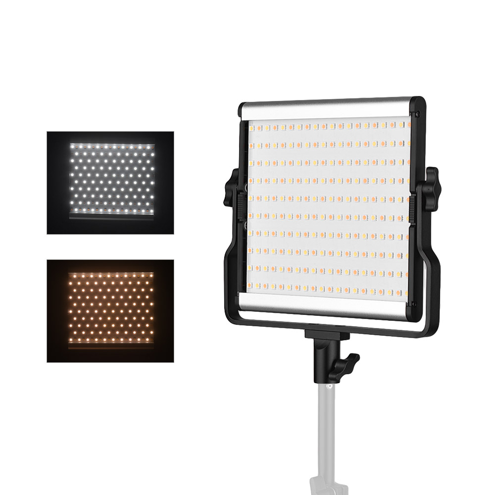 Andoer Video Light L4500 Bi color LED Adjustable Brightness Photography Fill Light AC Power Adapter with