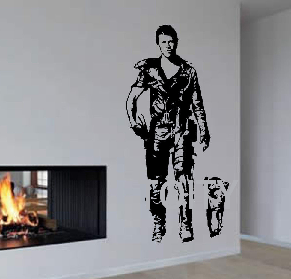 mad max wall decal action film poster mel gibson vinyl sticker dorm home interior bedroom decor