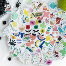 40 Pcs/lot  Cute Afternoon tea series Stickers Kawaii Planner Diary Scrapbooking Sticker Stationery School Supplies