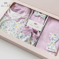 DBH10037 dave bella spring autumn newborn baby girls clothing sets infant toddler clothes baby cotton sets 0 9M