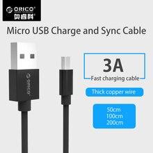 ORICO Micro USB кабель Android 3A Быстрая зарядка USB синхронизации данных Зарядное устройство кабель мобильного телефона кабель для Samsung Xiaomi Huawei