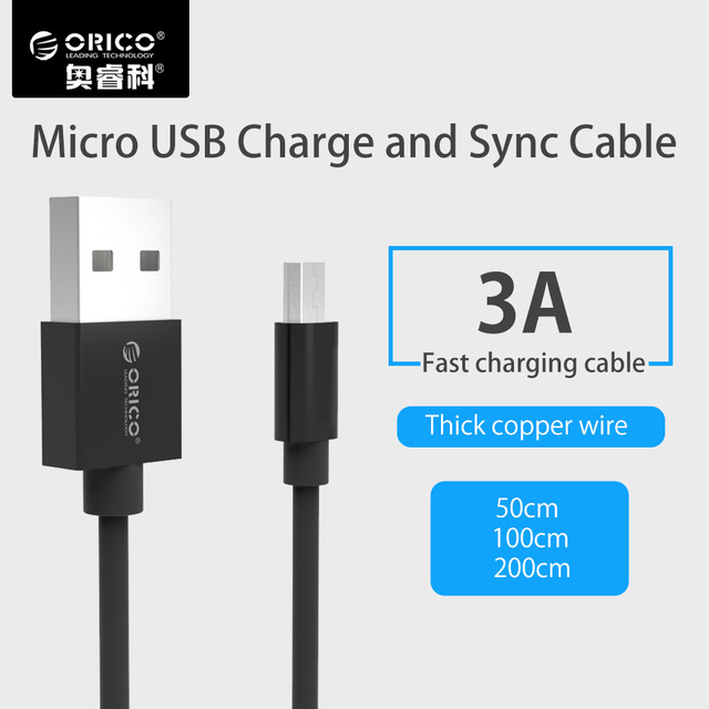 ORICO Micro USB Cable Android 3A Fast Charging USB Data Sync Charger Cable Mobile Phone Cable for Samsung s8